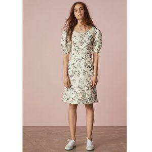 Rebecca Taylor Sofia Fleur Floral Linen Dress 8